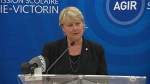 La présidente de la Commission scolaire Marie-Victorin, Carole Lavallée