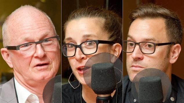 Gilles Fortin, Marie-Claude Lortie et Fabien Durif