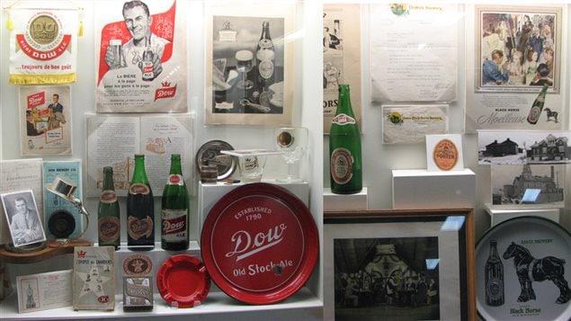 Quelques éléments exposés au musée de la micro-brasserie Les brasseurs du Temps