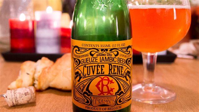 La bière Cuvée René de la brasserie belge Lindemans
