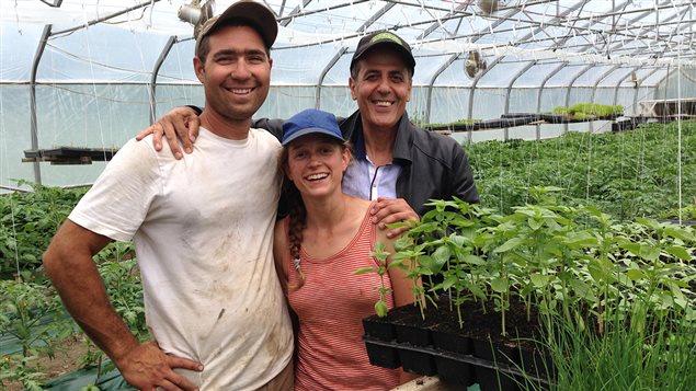 L'équipe des Jardins Carya : Alex Flores, Laurie Bennett et Ramsy Kassouf