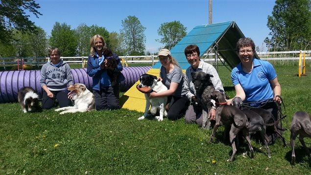 L'équipe du Club d'agilité canine Montérégie