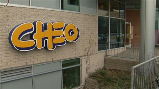 Le Centre hospitalier pour enfants de l'est de l'Ontario (CHEO).