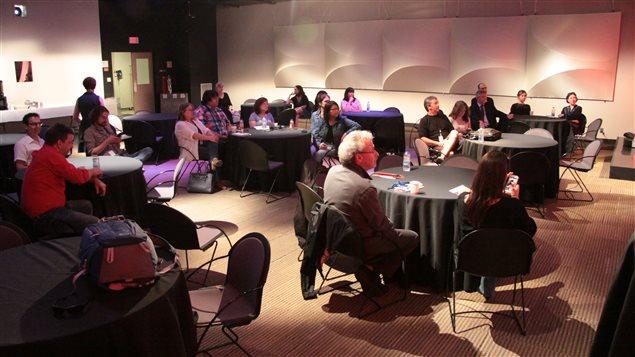 Clausura del taller en Radio Canadá.
