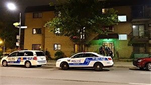 Le bloc appartement où s'est déroulée l'intervention policière