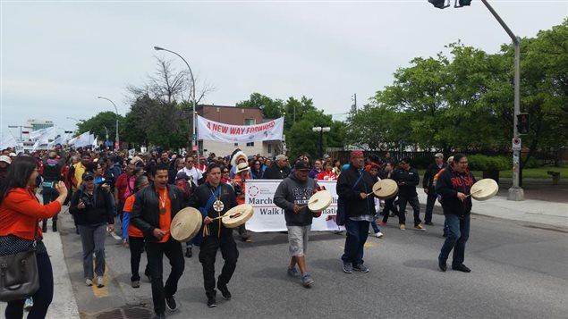Marcha de la reconciliación en Ottawa