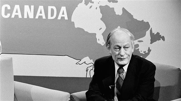 René Lévesque, figure marquante du mouvement indépendantiste québécois, en 1979
