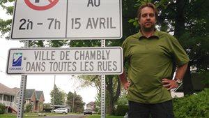 Robert Duval, résident de Carignan qui veut devenir citoyen de Chambly