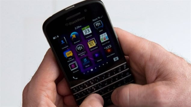 BlackBerry Q10 pictured above,