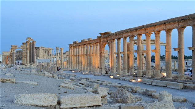 Le site archéologique de Palmyre en Syrie, classé au Patrimoine mondial de l'humanité par l'UNESCO.