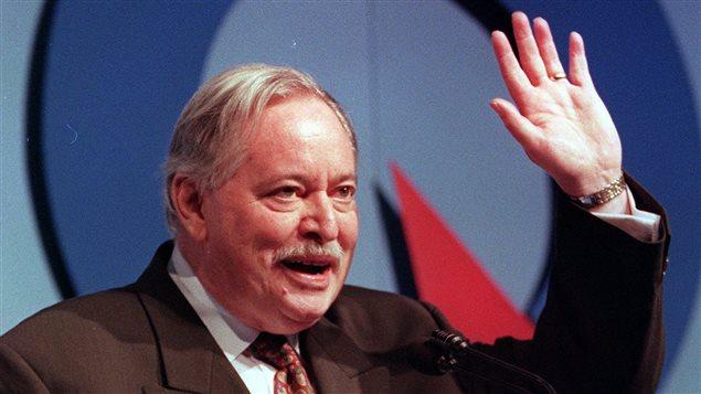 Jacques Parizeau lors d'un discours le 9 décembre 1995