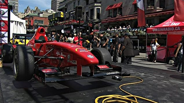 La rue Crescent lors du Grand Prix du Canada à Montréal