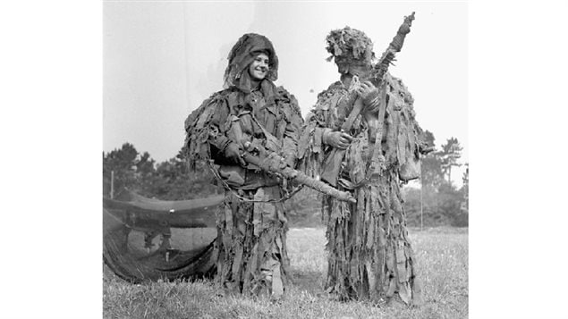 Two unidentified snipers, in