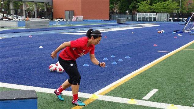 Mariè-Ève Nault à l'entraînement.