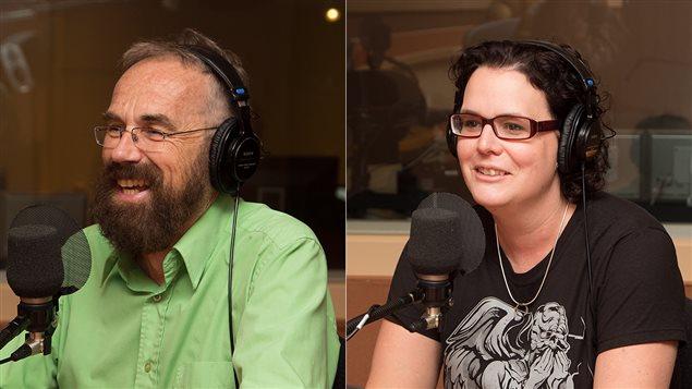 Guy Bertrand, premier conseiller linguistique de Radio-Canada, et Anne-Marie Beaudoin-Bégin, linguiste