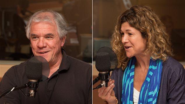 Alain Steve Comtois, professeur à l'UQAM, et Joséphine Sans, kinésiologue à Ubisoft