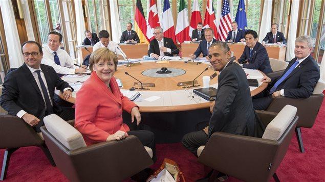 Les dirigeants au sommet du G7 au château Elmau près de Garmisch-Partenkirchen, en Allemagne