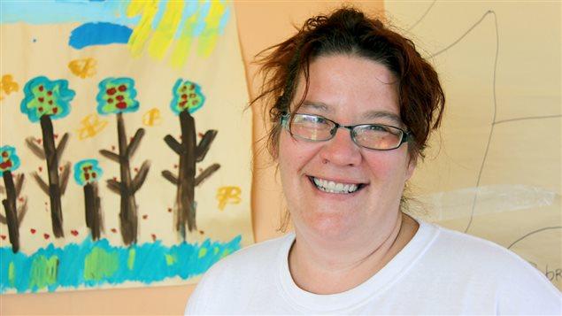 Sophie Caron vit temporairement dans un centre d'hébergement familial de l'Armée du Salut.