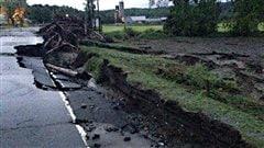 Plusieurs routes sont endommagées dans la région de Coaticook.