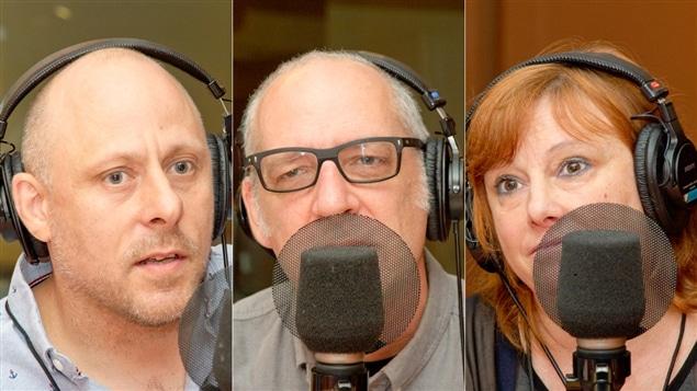 Nicolas Cournoyer, Laurent Saulnier et Annie Dureault