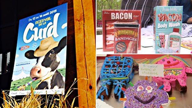Le Festival de la curd à Saint-Albert, le Festival du bacon de Sherbrooke et le Festival du livre comestible de Baie-Comeau