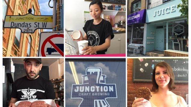 Quelques commerçants du quartier Junction Toronto qui participent Bites and Sights