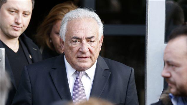 Dominique Strauss-Khan se rendant à son procès en février dernier.