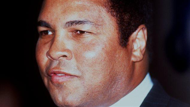 Le boxeur Mohamed Ali en 1985