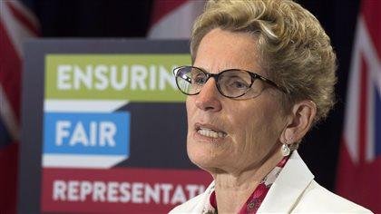 Kathleen Wynne ne veut pas d'une campagne électorale hâtive
