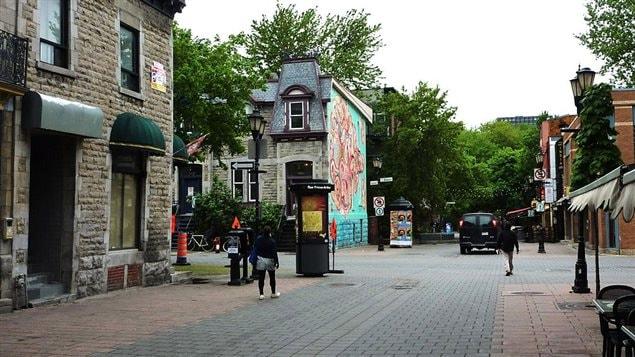 La rue Prince-Arthur à Montréal