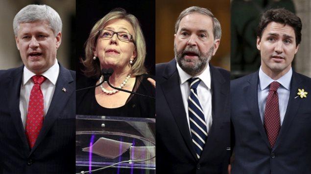Débat demain au Maclean's pour 4 des 5 chefs de partis fédéraux