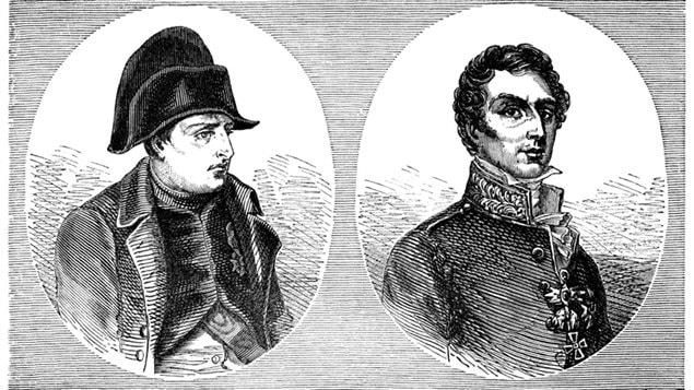 Napoléon 1er et le duc de Wellington