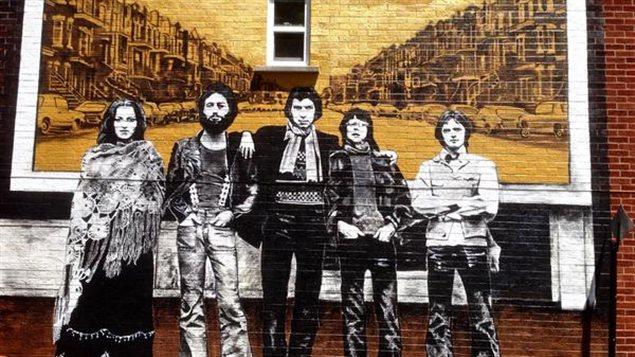 Murale en l'honneur du groupe Beau dommage dans l'arrondissement Rosemont-La Petite Patrie