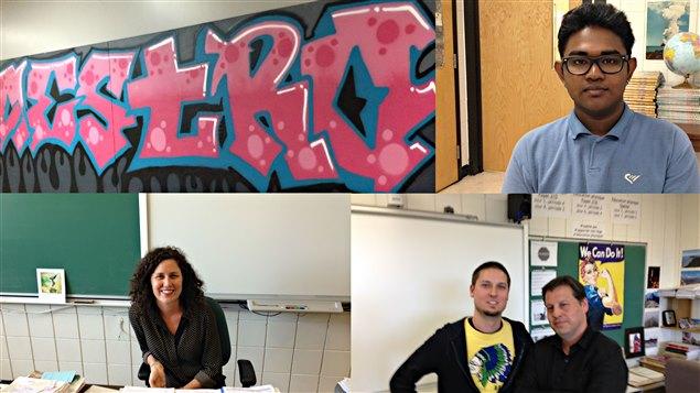 Les participants au reportage de Michel Labrecque à l'école Père-Marquette.