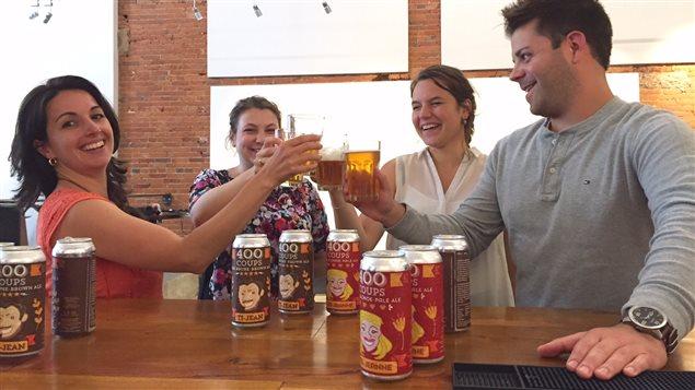 Le Centre français Hamilton a créé une une bière pour souligner les 400 ans de présence française en Ontario.