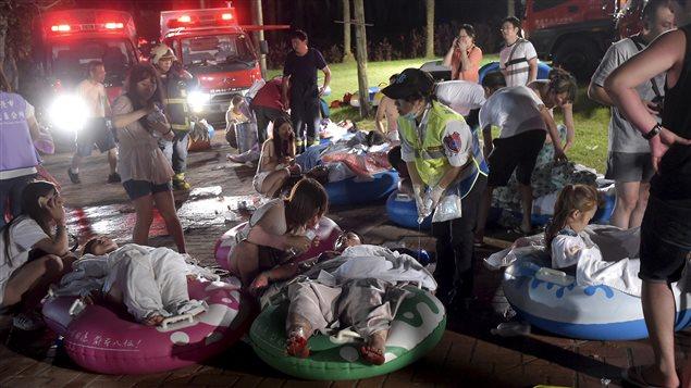 Des blessés à Taipei.
