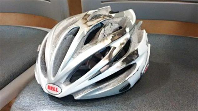 C'est le casque qui a sauvé la vie à Isabelle Richer