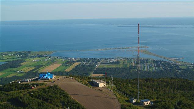 Vue aérienne de l'oratoire du mont Saint-Joseph