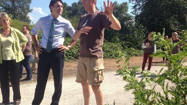 Justin Trudeau walk about