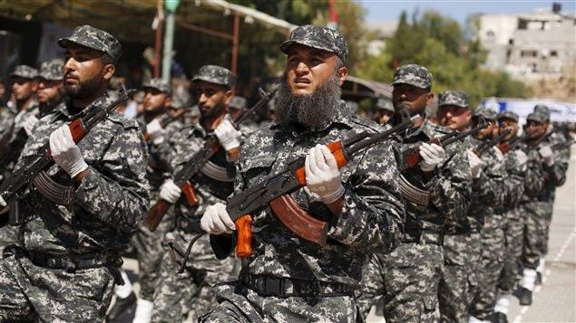 Les forces nationales de sécurité palestiniennes loyales au Hamas