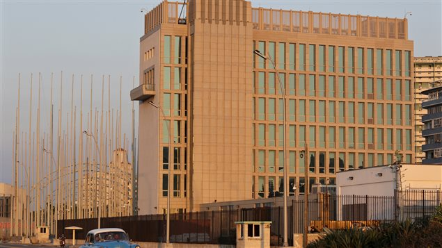 La Section des intérêts américains à La Havane, qui abrite le personnel diplomatique américains à Cuba