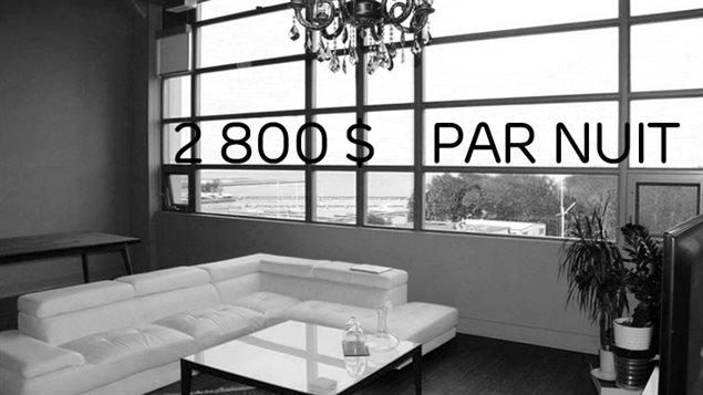 Le logement le plus cher en location plus tôt au mois de juin.