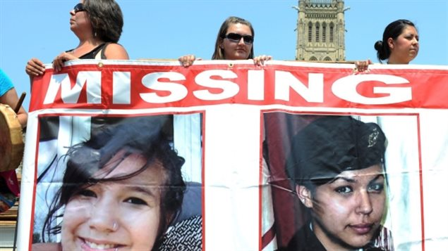 A Sisters in Spirit rally on Parliament Hill in Ottawa on Oct. 4, 2013 was held to remember missing and murdered aboriginal women such as Maisy Odjick (left) and Shannon Alexander (right).
