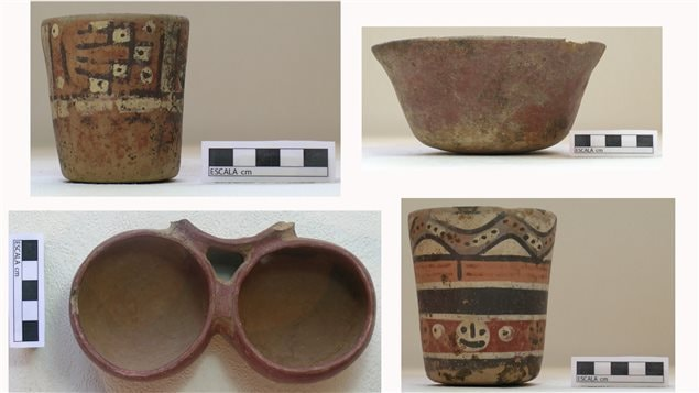 Artefactos mortuarios encontrados en las tumbas.