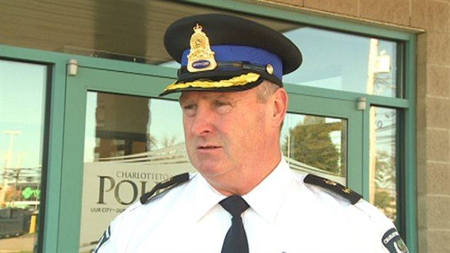 Le directeur de police adjoint de la police de Charlottetown, Gary McGuigan.