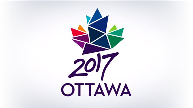 Le logo des festivités du 150e anniversaire du Canada à Ottawa en 2017