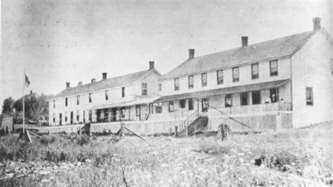 Mowat Lodge at Canoe Lake where Thomson often stayed when not camping in the silderness, and where he may, or may not, have met his end.