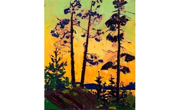"""Thomson's """"Pine Trees at Sunset""""  sold in 2008 for almost $2 million"""