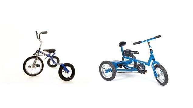 Deux modèles de tricycles orthopédiques conçus par Tri-vel