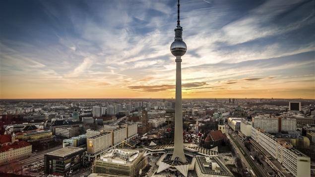 Vue de la ville de Berlin, en Allemagne